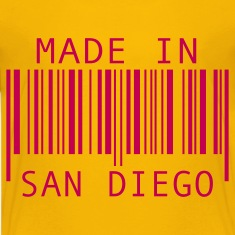 Yellow Made in San Diego Kids' Shirts