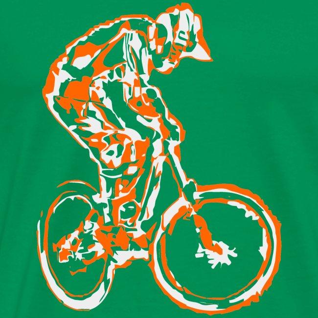 Mountain Bike T-shirt - Downhill Rider