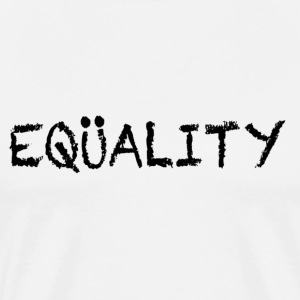 White EQUALITY Marriage T-Shirts - Men's Premium T-Shirt