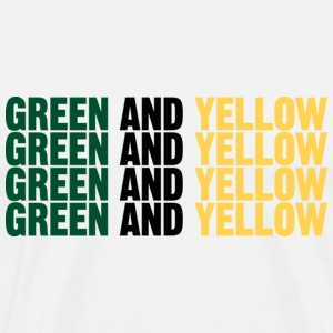 Men's t-shirt Green and Yellow 4 times | Digimani - Men's Premium T-Shirt