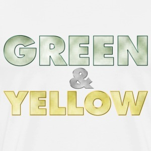 Men's t-shirt Green and Yellow | Digimani - Men's Premium T-Shirt
