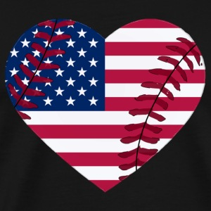 Men's Heavyweight T-Shirt: i_love_baseball_of_the_usa  - Men's Premium T-Shirt