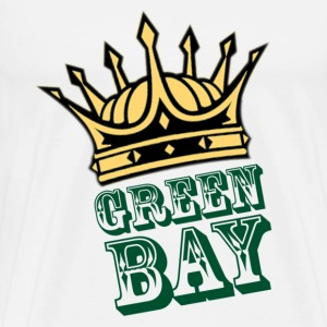 Men's t-shirt Green Bay with crown | Digimani - Men's Premium T-Shirt