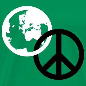 Kelly green world peace T-Shirts - Men's Premium T-Shirt