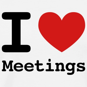 I love meetings T-Shirts - Men's Premium T-Shirt