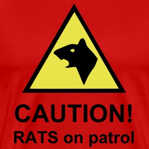 CAUTION! RATS on patrol - Men's Premium T-Shirt