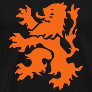 Orange Lion Rampant - Men's Premium T-Shirt