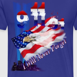9-11-01 I Will Never Forget - Men's Premium T-Shirt