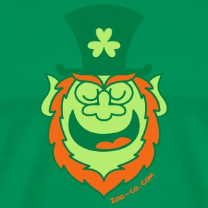 St Paddy's Day Leprechaun Speaking T-Shirts - Men's Premium T-Shirt