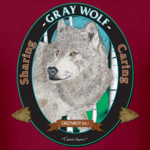 Burgundy Gray Wolf T-Shirts - Men's T-Shirt