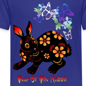 Year Of The Rabbit in Black - Kids' Premium T-Shirt