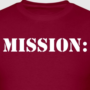 mission: military army navy in stencil T-Shirts - Men's T-Shirt