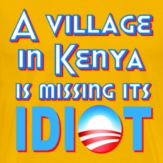 Yellow A Village in Kenya is Missing its Idiot Obama T-Shirts
