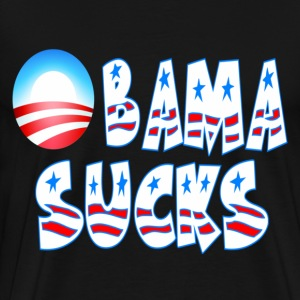 Black Obama Sucks T-Shirts - Men's Premium T-Shirt
