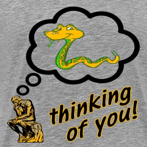 Ash Thinking of You Snake Insult T-Shirts - Men's Premium T-Shirt