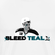 Design ~ Bleed Teal Patty Men's White T-Shirt