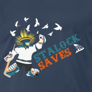 Design ~ Stalock Saves Men's Navy T-Shirt