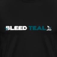 Design ~ Bleed Teal Men's Black T-Shirt