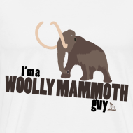 Design ~ Wooly Mammoth Guy Men's White T-Shirt