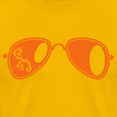 Gold fancy aviator glasses with curly thorns T-Shirts