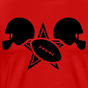 Red All American football with star designer T-Shirts - Men's Premium T-Shirt