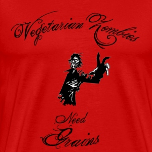 Vegetarian Zombie red - Men's Premium T-Shirt