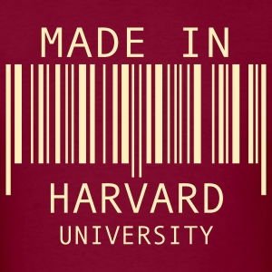 Burgundy Made in Harvard University T-Shirts - Men's T-Shirt