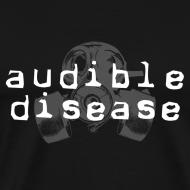 Design ~ Audible Disease gas mask - white on black