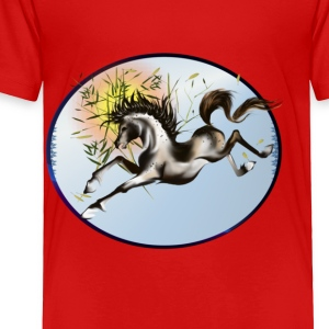 Running Horse Oval - Toddler Premium T-Shirt