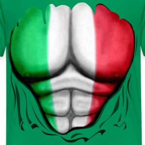 Mexico Flag Ripped Muscles, six pack, chest t-shirt - Kids' Premium T-Shirt