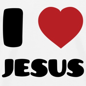 I Love Jesus T-Shirts - Men's Premium T-Shirt