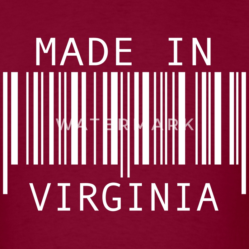 Burgundy Made in Virginia T-Shirts - Men's T-Shirt