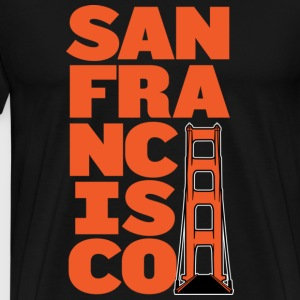 San Francisco Block Golden Gate T-shirt - Men's Premium T-Shirt
