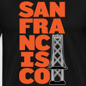 San Francisco Block Bay Bridge T-shirt - Men's Premium T-Shirt