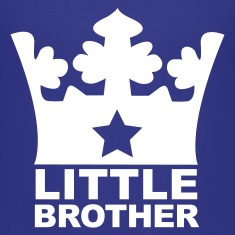 Royal blue I am the Little Brother Kids' Shirts