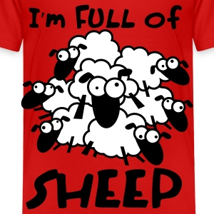 Full of Sheep Animal Shirt Toddler Shirts - Toddler Premium T-Shirt