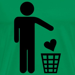 Kelly green Heart Throwing Man T-Shirts - Men's Premium T-Shirt