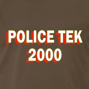 Brown Police Tek 2000 Reno T-Shirts - Men's Premium T-Shirt