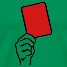 Kelly green Red Card  T-Shirts
