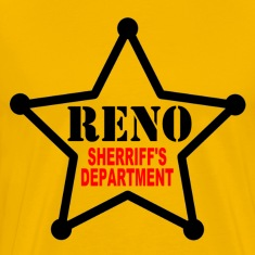 Gold RENO Sherriff's Department T-Shirts