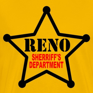 Gold RENO Sherriff's Department T-Shirts - Men's Premium T-Shirt
