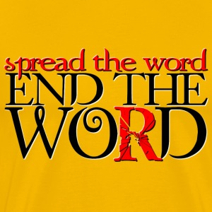 End the Word - Men's Premium T-Shirt