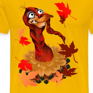 Goofy Thanksgiving Turkey - Men's Premium T-Shirt