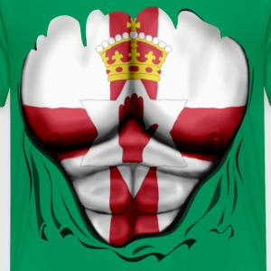 Northern Ireland Flag Ripped Muscles, six pack, chest t-shirt - Kids' Premium T-Shirt
