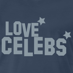 love celebs CELEBRITY! with stars T-Shirts - Men's Premium T-Shirt