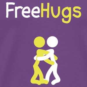 Purple Free Hugs People T-Shirts - Men's Premium T-Shirt