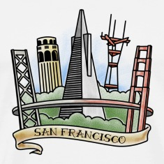 San Francisco Skyline 1 T-shirt