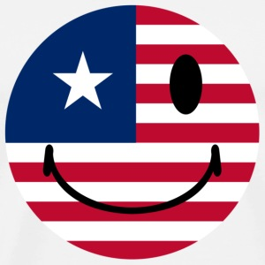 White American Smiley T-Shirts - Men's Premium T-Shirt