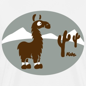 Natural Lama Scenery Atacama T-Shirts - Men's Premium T-Shirt
