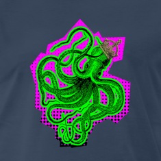 Navy king octopus T-Shirts